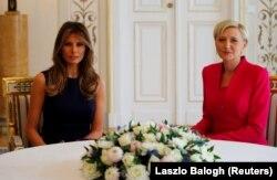 Встреча первых леди США Мелании Трамп и Агаты Корнхаузер-Дуды в Варшаве