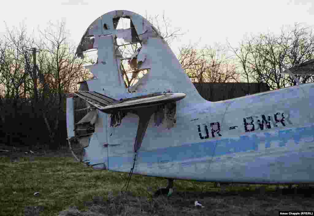 But most of the damage is due to the sun, rain, and snow over nearly three decades out in the open. Most of the canvas control surfaces of the Antonovs (pictured) have been shredded by the elements.