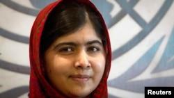 Pakistani schoolgirl activist Malala Yousafzai (file photo)