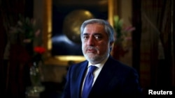 Afghan Chief Executive Abdullah Abdullah leaves after an interview with Reuters in New Delhi on February 4.