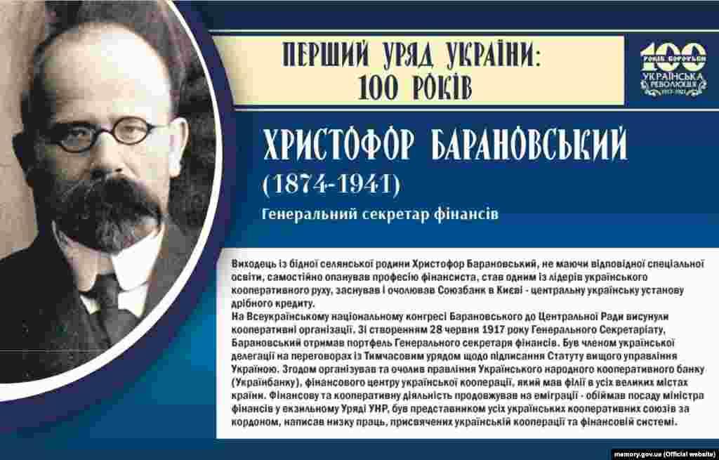 Христофор Барановський, генеральний секретар фінансів