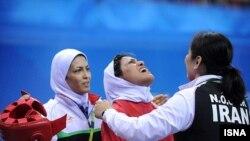 خدیجه آزادپور، بانوی سانداکار ۶۰ کيلويی ايران، سومين مدال طلای کاروان ايران را به گردن آويخت.
