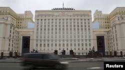 Здание министерства обороны России в Москве.