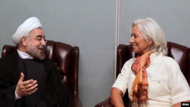 دیدار حسن روحانی با کریستین لاگارد، رئیس صندوق بینالمللی پول در حاشیه مجمع عمومی سازمان ملل در نیویورک