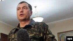 Самопроголошений «народний губернатор» Луганщини Валерій Болотов, 21 квітня 2014 року