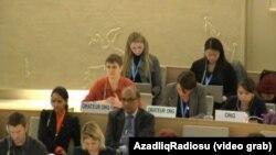 17 mart. Jenevrə, BMT İnsan Haqları şurasının iclas zalı