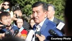 Избранный президент Кыргызстана Сооронбай Жээнбеков