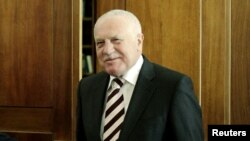 Ish-presidenti çek, Vaclav Klaus.