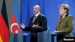 Ilham Əliyev və Angela Merkel