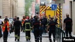 Место взрыва в Лионе.
