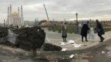 """Құрылысы соңғы аптада қарқынды жүріп жатқан жаңа """"Астана паркінде"""" ел астанасындағы """"Хан шатыр"""" көшірмесі де бар."""