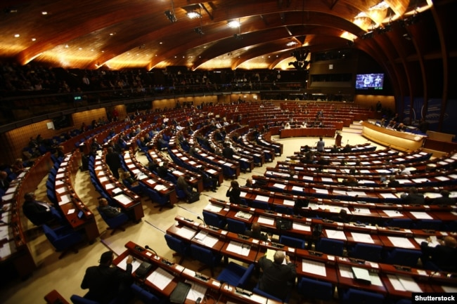 Зала засідань Парламентської асамблеї Ради Європи, Страсбург