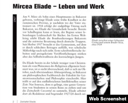 Pagină din Sezession 16, Februarie 2007, număr special dedicat lui Mircea Eliade