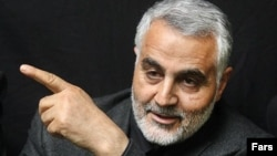 Major-General Qassem Soleimani is the commander of an elite unit of Iran's Islamic Revolutionary Guards Corps. (file photo)