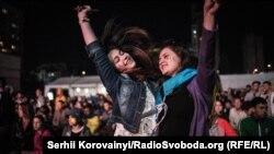 Ukraine -- Fans is watching Ukraine-Germany match on Euro-2016, Kyiv, 12Jun2016