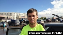 Водитель Николай Павликов. Астана, 26 июля 2013 года.