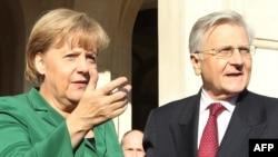 Канцлер Германии Ангела Меркель с главой европейского Центробанка Жаном-Клодом Трише