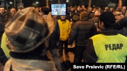 Redari na protestu DF-a, Podgorica 2015.