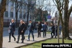 На суд над Пятрухіным арганізавана прыходзяць міліцыянты ў цывільнай вопратцы, 9 красавіка