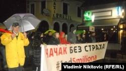 Sa protesta u Čačku