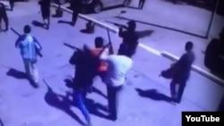 Участники нападений в Актобе. Скриншот записи с камер видеонаблюдения.