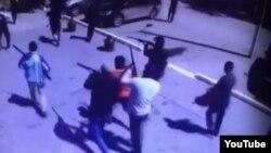 Скриншот видеозаписи предположительно о событиях в Актобе.