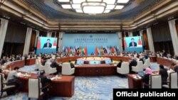 Шанхай Кызматташтык Уюмунун (ШКУ) саммити. Кытай. Циндао, 10-июнь, 2018-жыл.