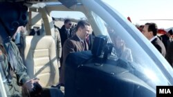 Премиерот Никола Груевски, министерката за внатрешни работи Гордана Јанкулоска и директорот на УБК Сашо Мијалков