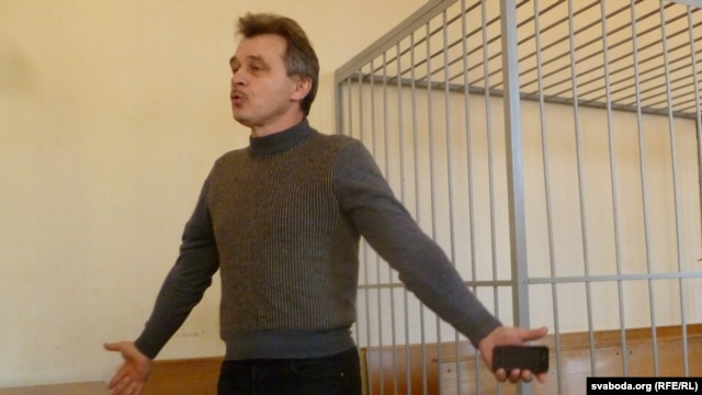 Opposition United Civic Party leader Anatol Lyabedzka during a court appearance in Minsk last month