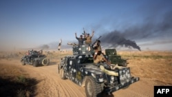 Iraqi pro-government forces advance towards the city of Fallujah, as part of a major assault to retake the city from Islamic State on May 23.