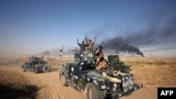Проправительственные силы Ирака на пути к городу Фаллуджа. 23 мая 2016 года.