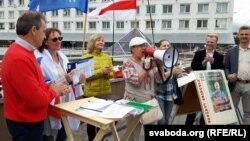 Пікет правацэнтрысцкай кааліцыі ў Віцебску