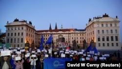 Protest protiv Andreja Babiša, lidera ANO i predsjednika Češke Miloša Zemana