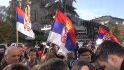 Protesters Begin Blockading Serbian TV