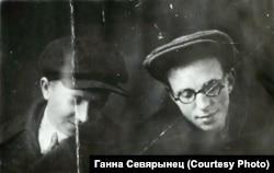 Алесь Дудар (зьлева) і Эдуард Самуйлёнак