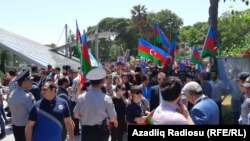 Ադրբեջան - Մայիսի 28-ի երթը Բաքվում
