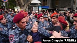 Armenian Police Break Up Yerevan Protest