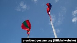 Steaguri ruse și transnistrene la Tiraspol