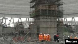 Цзянси провинциясында курулушу жүрүп жатканэлектростанциядагы кырсык