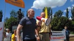 Игорь Рудников на митинге в Калининграде 22 июня