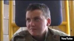 Надія Савченко в полоні, архівний відеокадр