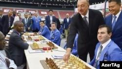 İlham Əliyev Şahmat Olimpiadasının açılışında