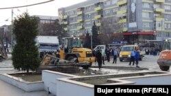 Gjilan, pamje nga vendi i aksidentit.