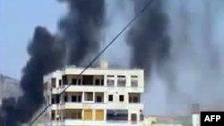 عکسی از یک ویدئو متعلق به شهر حماه