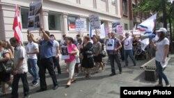 متظاهرون عراقيون في الدانمارك