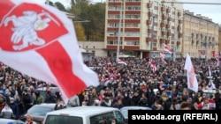Тысячи против Лукашенко. 11-я неделя протестов в Беларуси