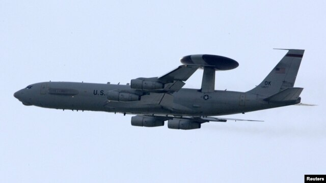 A NATO AWACS in the skies over southern Italy (file photo)