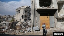 Qyteti Douma, afër kryeqytetit sirian, 30 dhjetor