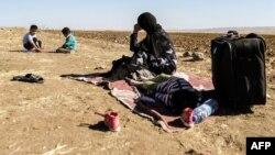 Сириялык качкын аял балдары менен
