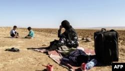 پناهجویان سوری در مرز عراق